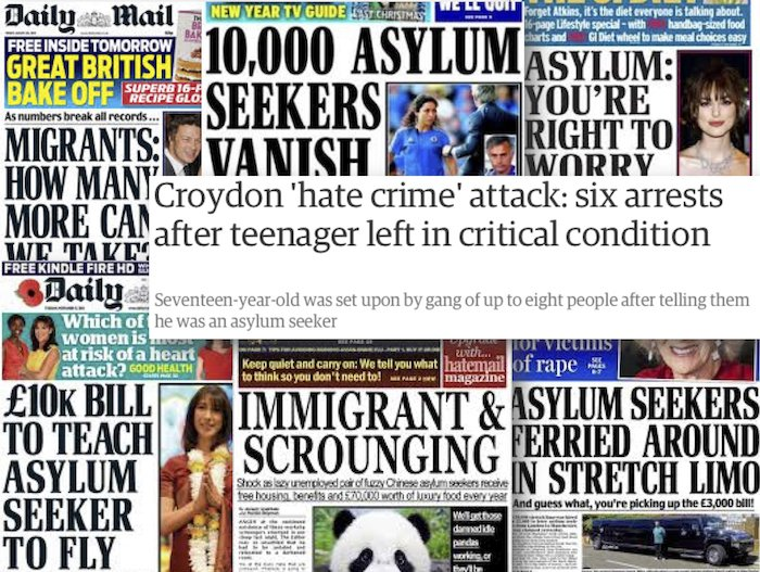 """Do you agree with David Puttnam that """"the media have a duty to inform and not inflame""""? Asylum10"""