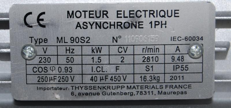 conception scie sous table de A à Z Moteur11
