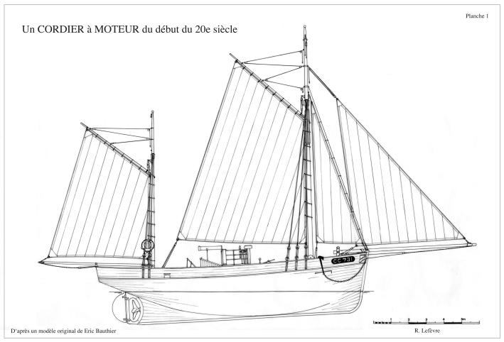 le Corentin au 1/15, cordier à voiles et moteur de 1904 d' après plans Corent10
