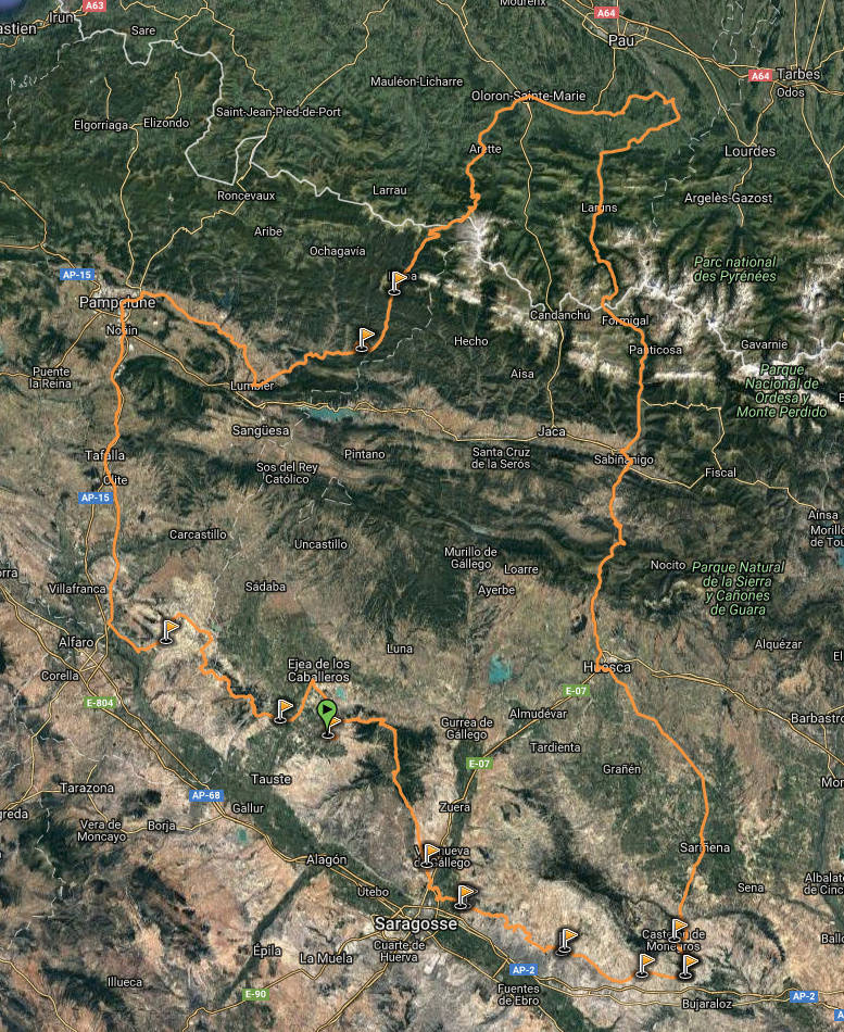 l'EDC en Espagne: Monegros - désert des Bardenas  Captur15