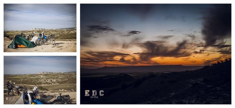 l'EDC en Espagne: Monegros - désert des Bardenas  Mentie28