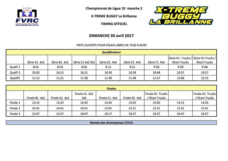 Ligue 10 - 2ème manche TT 1/10 Elec le 30 avril 2017 à La Brillanne (1033) Timing11