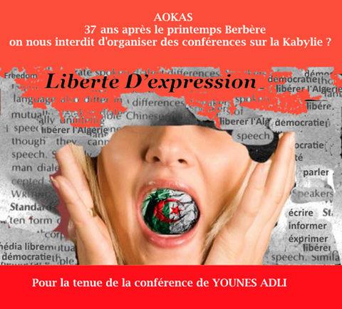 AOKAS: 37 ans après le printemps Berbère on nous interdit d'organiser des conférences sur la Kabylie ? 17022210