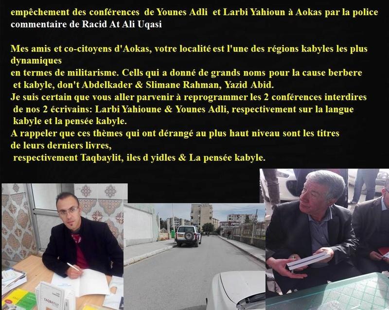 AOKAS: 37 ans après le printemps Berbère on nous interdit d'organiser des conférences sur la Kabylie ? 17098610