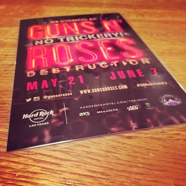 GnR No Trickery! à Vegas  10360410