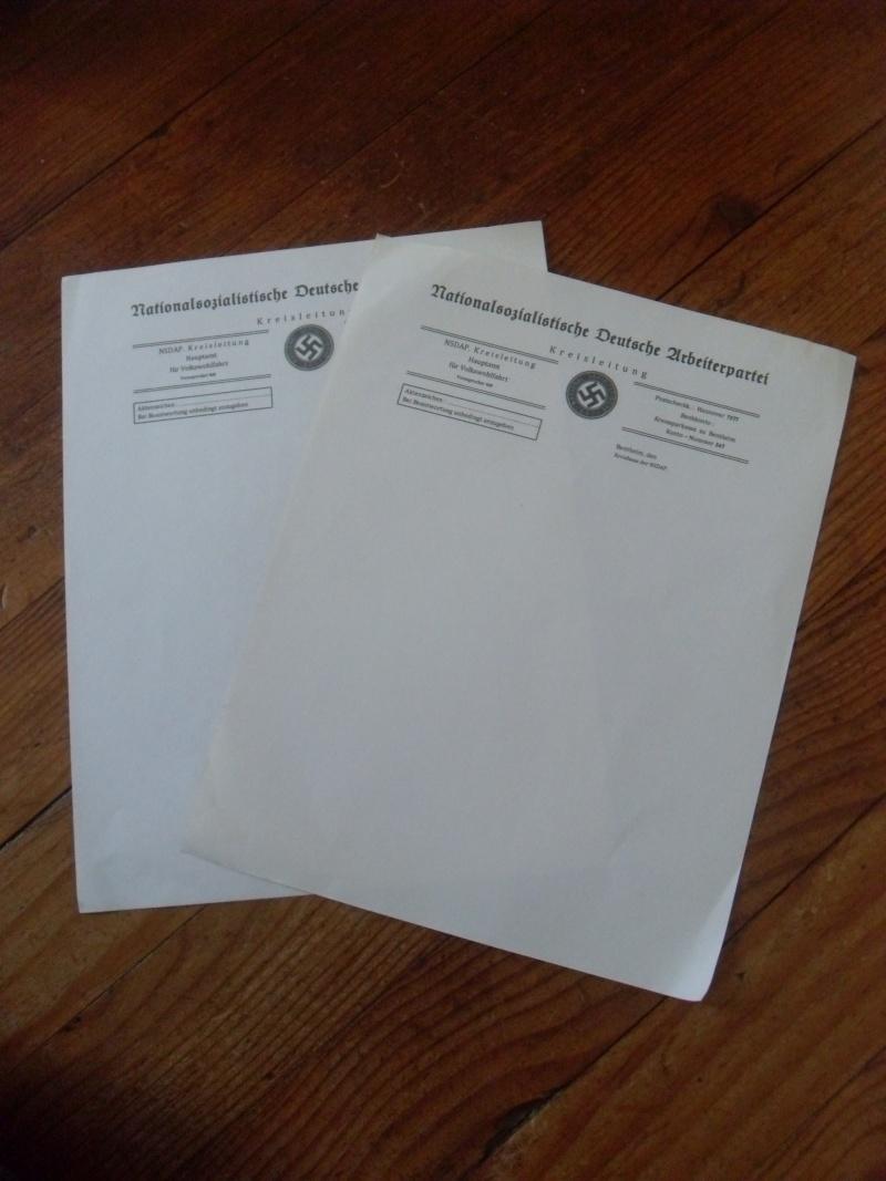 Vitrine Allemande : Diplome Spange EK1 NSDAP 18/05 - Page 2 Sdc12424
