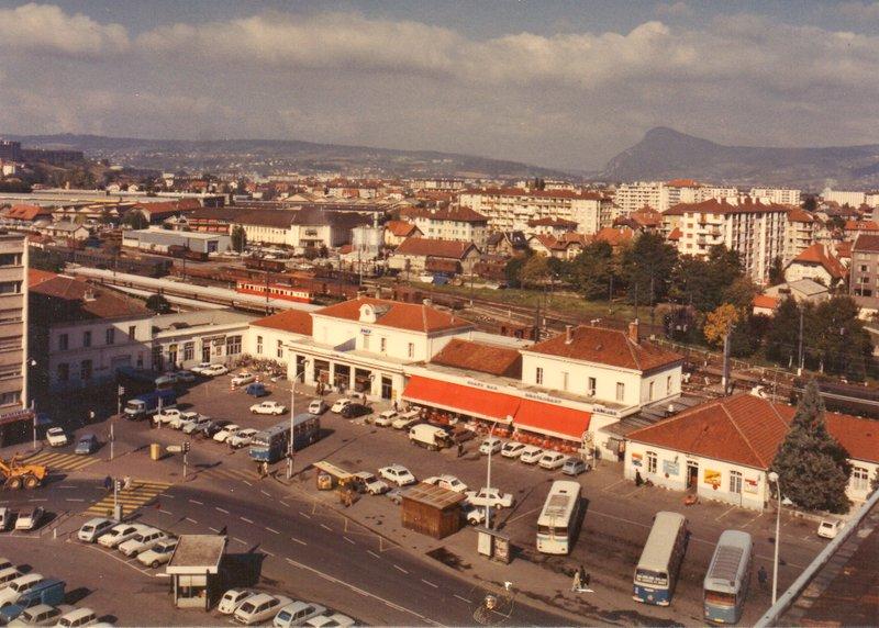 La gare d'Annecy dans les années 1960 Img02811