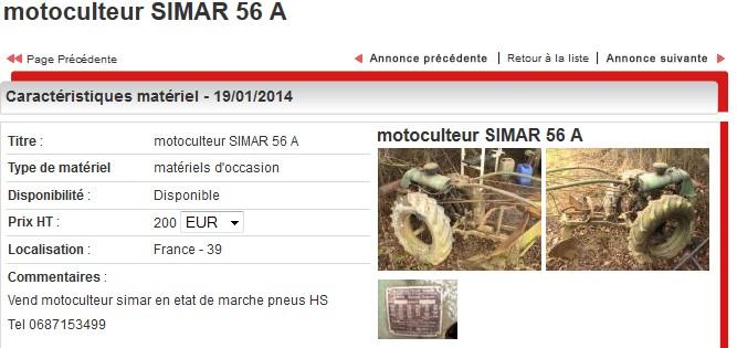 simar - Simar 56A  à 200 euros dans le 39 Annonc10