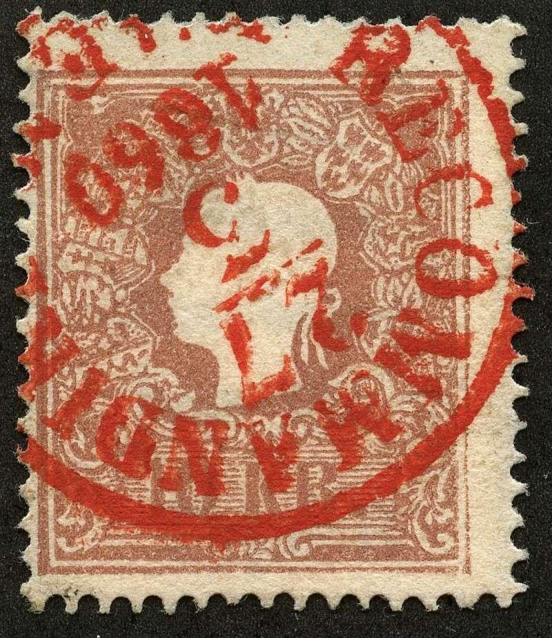 Die Freimarkenausgabe 1858 Type I und II 14_iia10