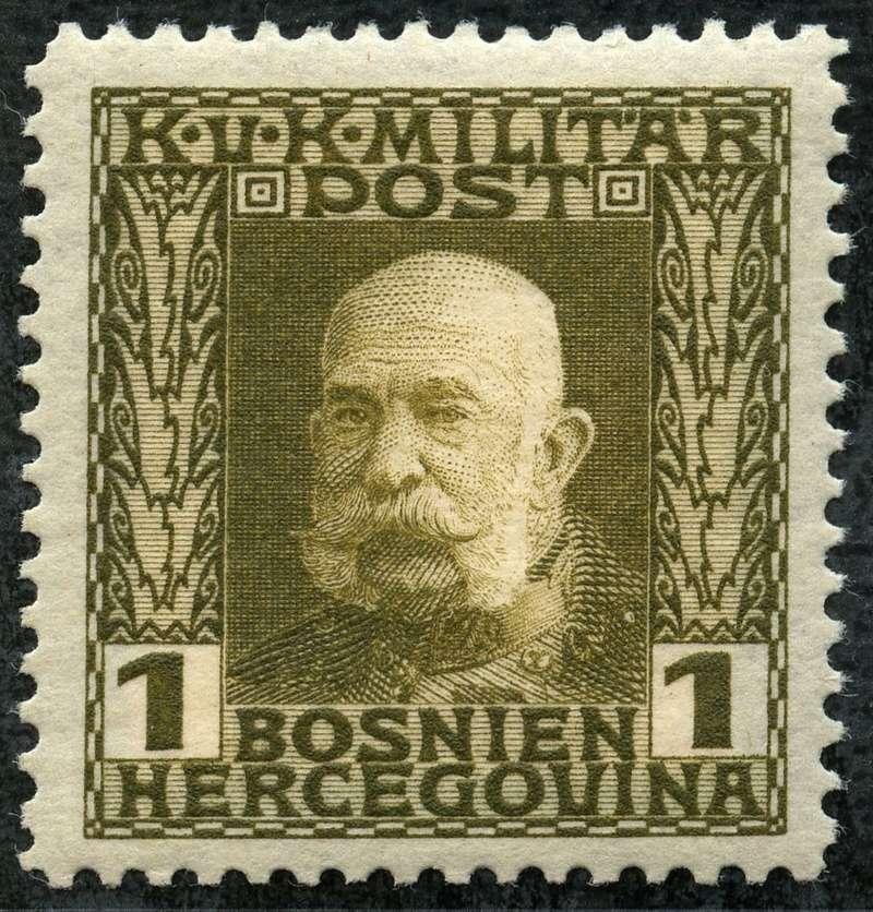"""Österreich Bosnien-Herzegowina """"Freimarkenausgabe 1912"""" Nr. 64 bis 84"""" 64_oli10"""