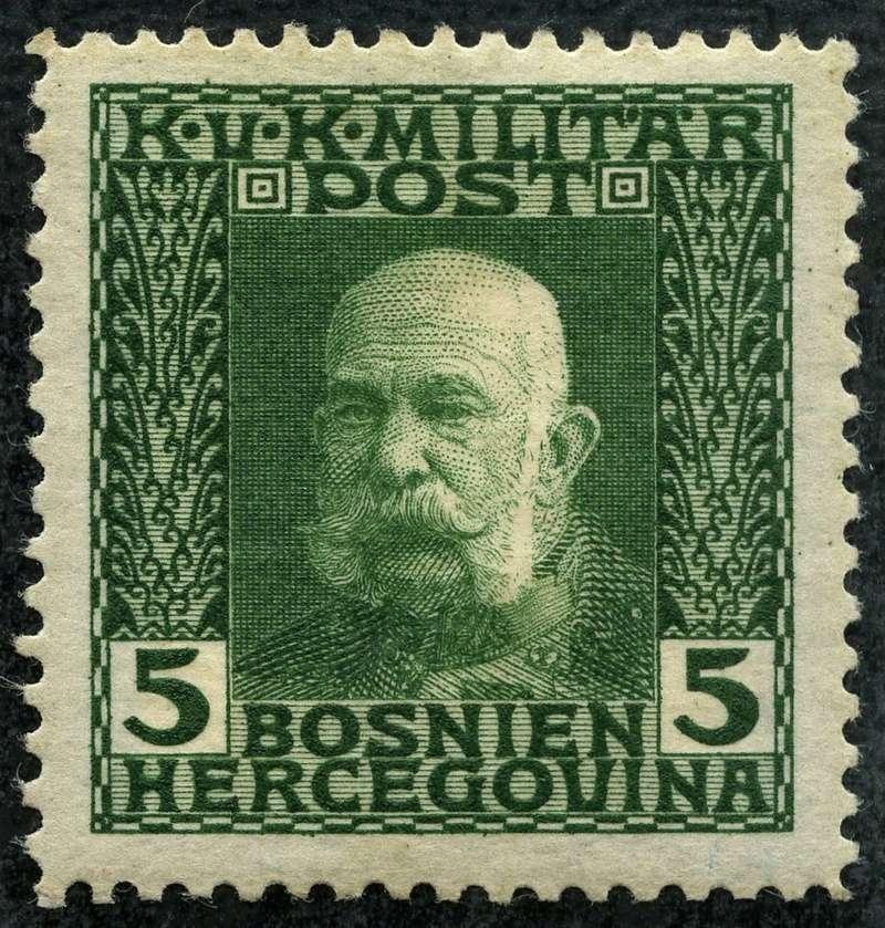 """Österreich Bosnien-Herzegowina """"Freimarkenausgabe 1912"""" Nr. 64 bis 84"""" 67_gry10"""