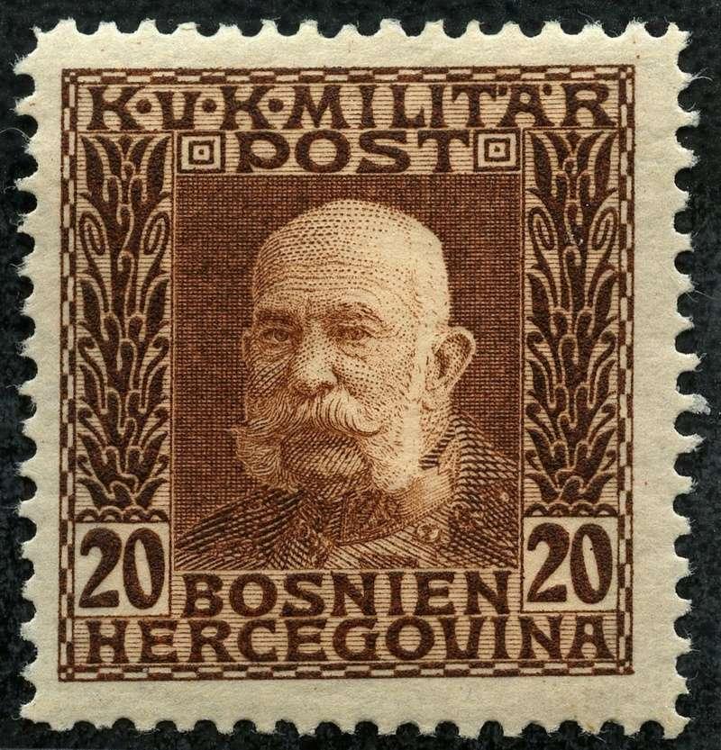 """Österreich Bosnien-Herzegowina """"Freimarkenausgabe 1912"""" Nr. 64 bis 84"""" 71_gel10"""