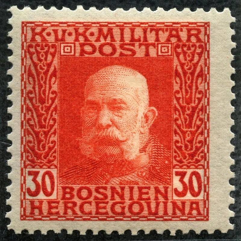 """Österreich Bosnien-Herzegowina """"Freimarkenausgabe 1912"""" Nr. 64 bis 84"""" 73_rot10"""
