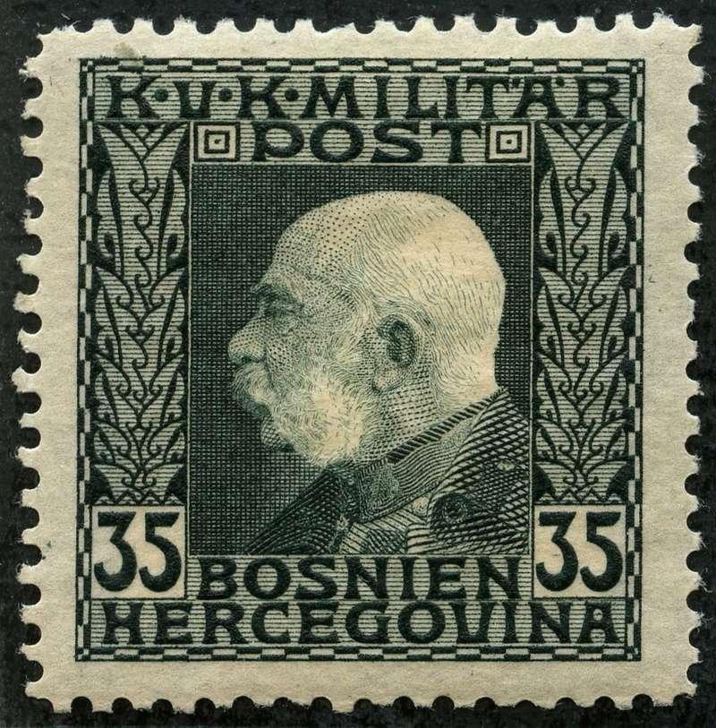 """Österreich Bosnien-Herzegowina """"Freimarkenausgabe 1912"""" Nr. 64 bis 84"""" 74_gry10"""