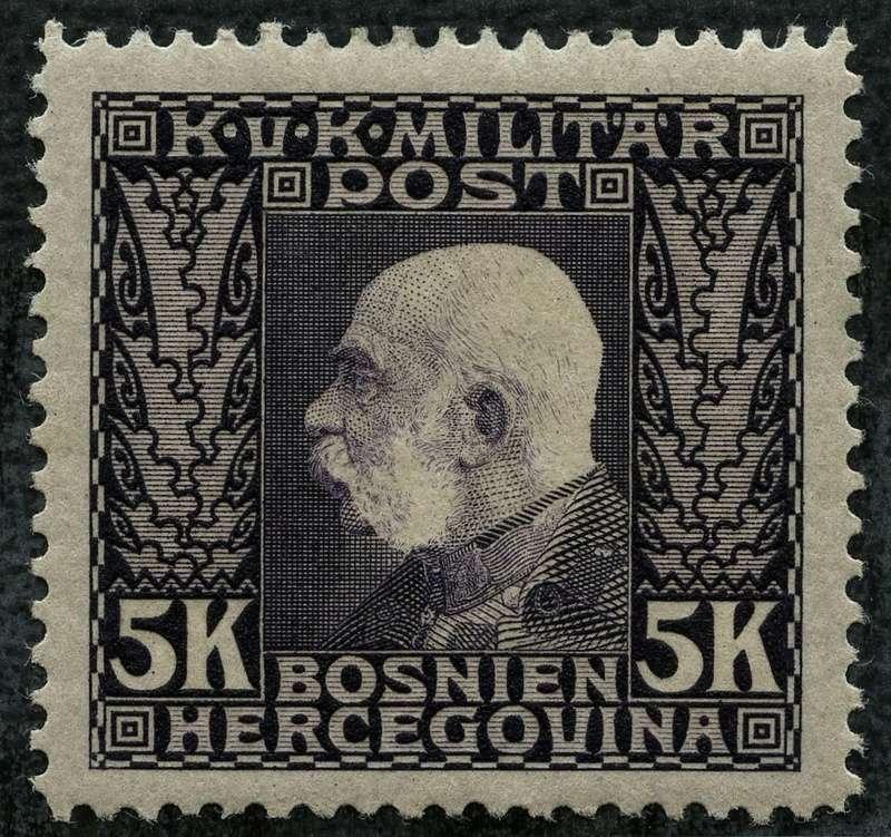 """Österreich Bosnien-Herzegowina """"Freimarkenausgabe 1912"""" Nr. 64 bis 84"""" 83_sch10"""