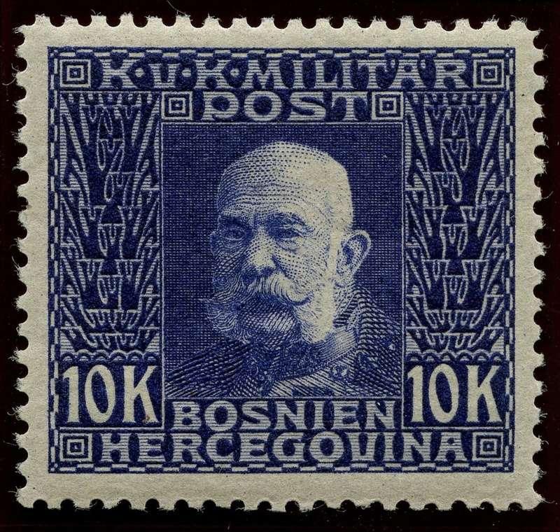 """Österreich Bosnien-Herzegowina """"Freimarkenausgabe 1912"""" Nr. 64 bis 84"""" 84_dun12"""