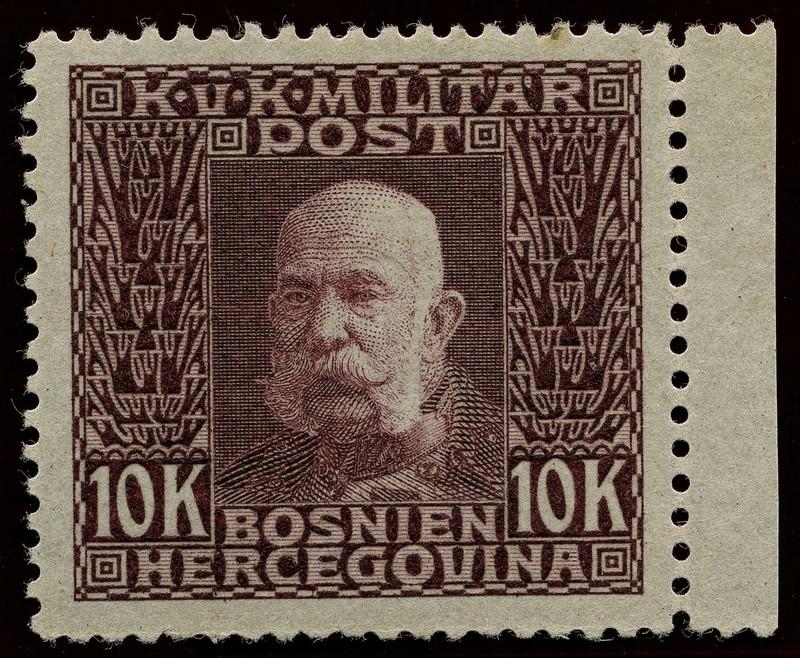 """Österreich Bosnien-Herzegowina """"Freimarkenausgabe 1912"""" Nr. 64 bis 84"""" 84_pvb10"""