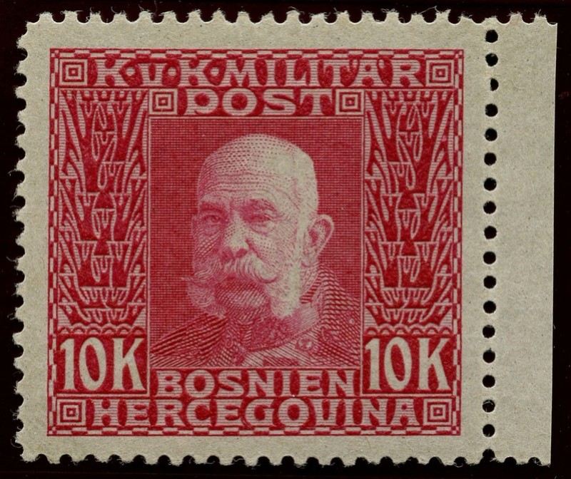 """Österreich Bosnien-Herzegowina """"Freimarkenausgabe 1912"""" Nr. 64 bis 84"""" 84_pvd10"""