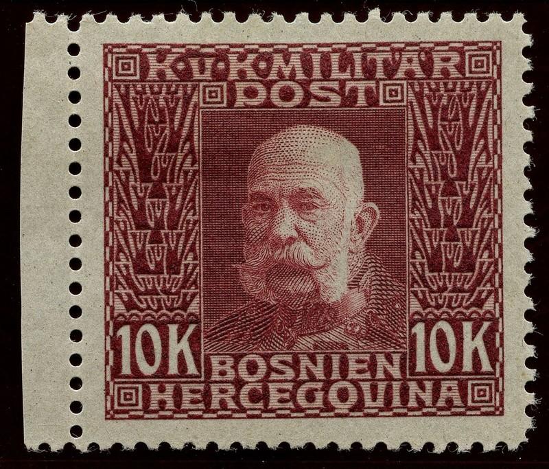 """Österreich Bosnien-Herzegowina """"Freimarkenausgabe 1912"""" Nr. 64 bis 84"""" 84_pve10"""