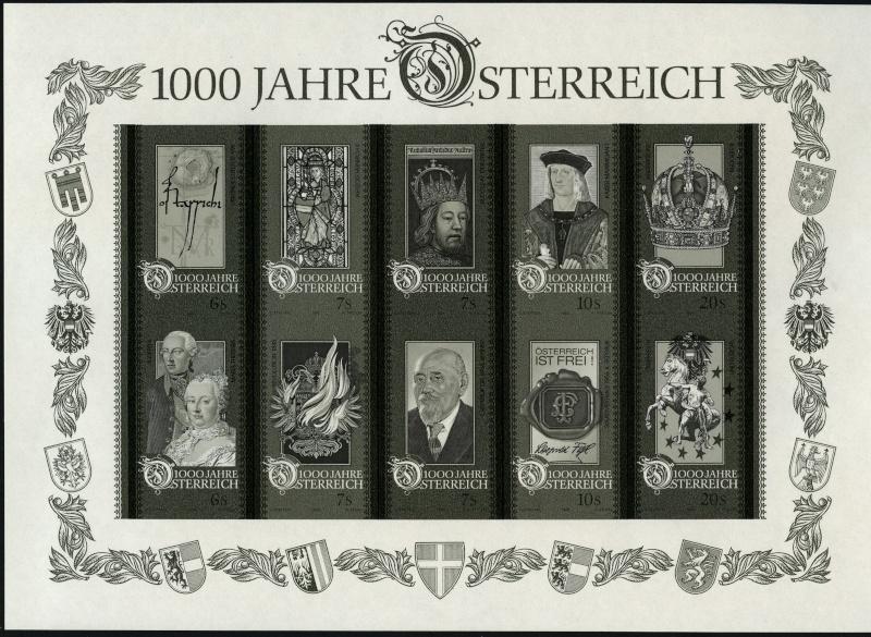 Österreich - Specimen, Schwarzdrucke, Buntdrucke Img02010