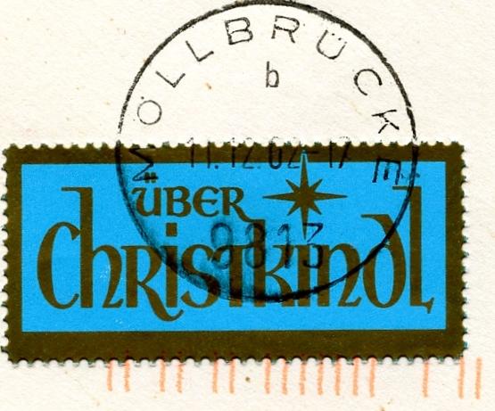 Postamt Christkindl  Leitzettel Img81010