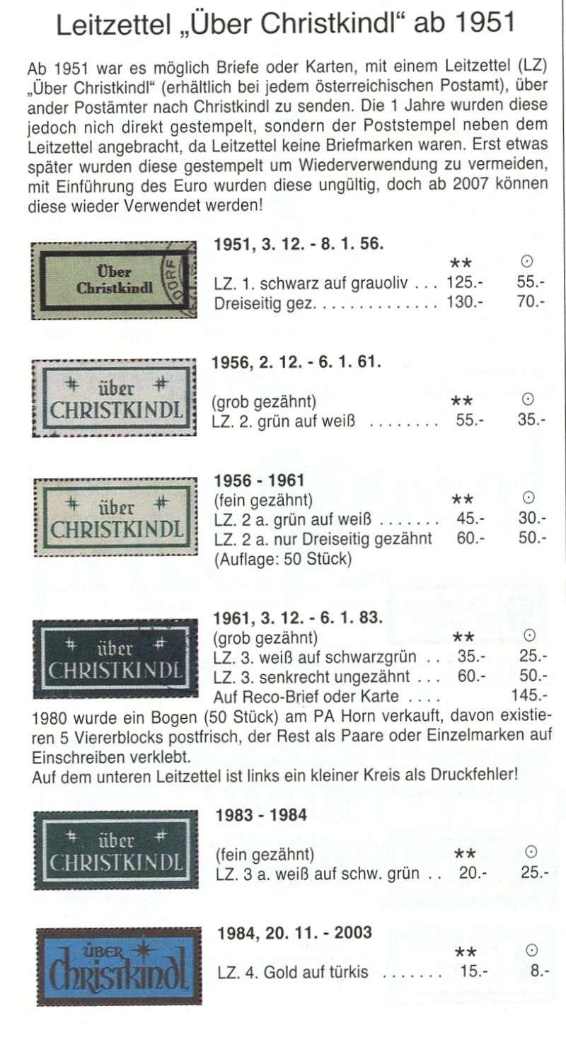 Postamt Christkindl  Leitzettel Img81310
