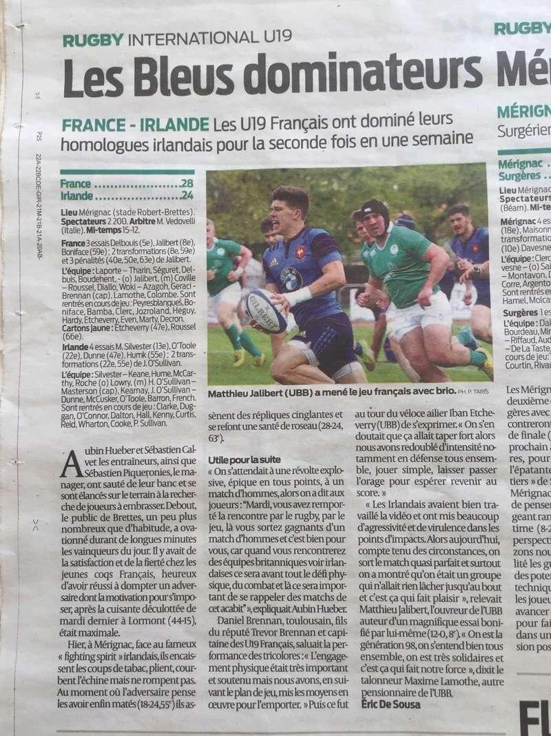 Equipes de France Jeunes - Page 2 Sud-ou11