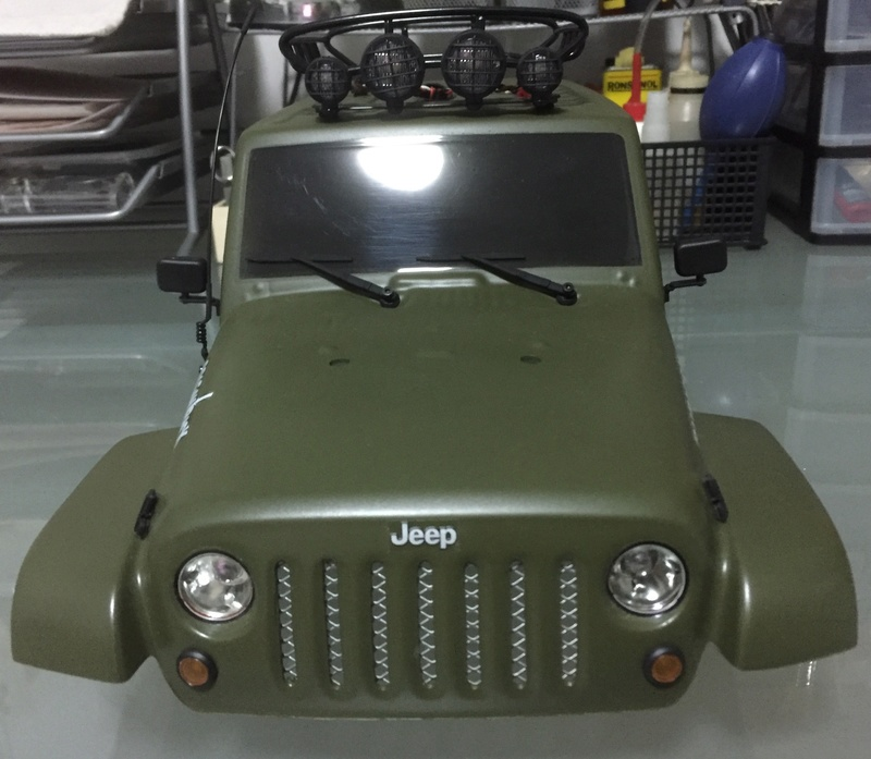 jeep - WTS: Scale Pro-Line Jeep Unlimited Painted Body (Olive Green) 110