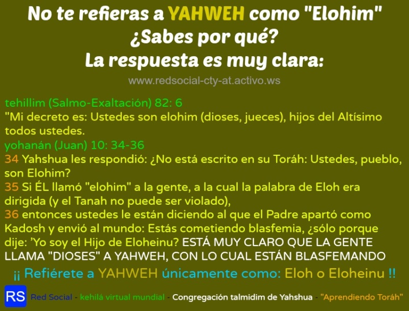 Lo correcto es ELOHEINU o ELOH no elohim 1aeloh12