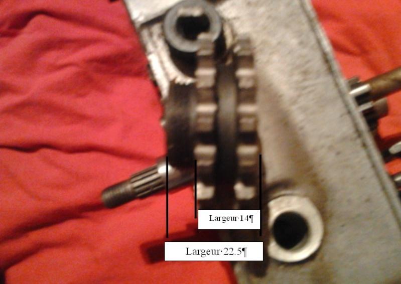 transmission primaire de 125 ts Pignon10