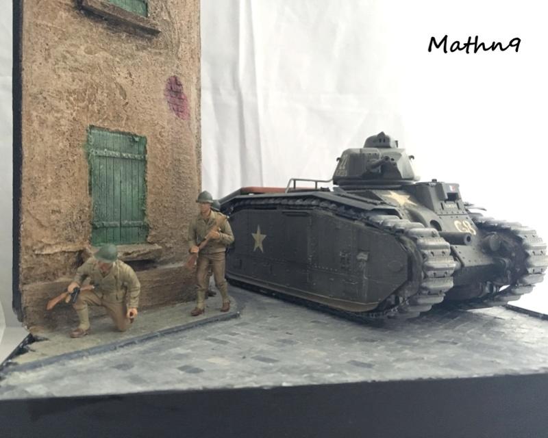 B1Bis [Tamiya 1/35] + US infantry [Dragon 1/35] Img_1116