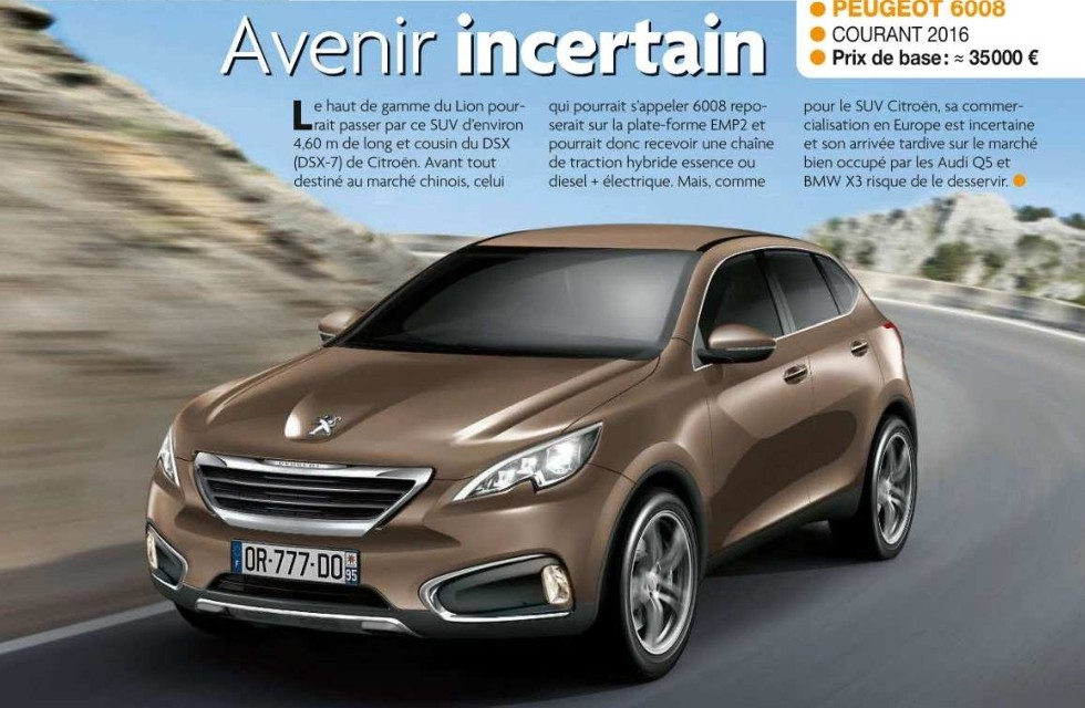 201? - [Peugeot] 6008/7008 ? - Page 2 600811