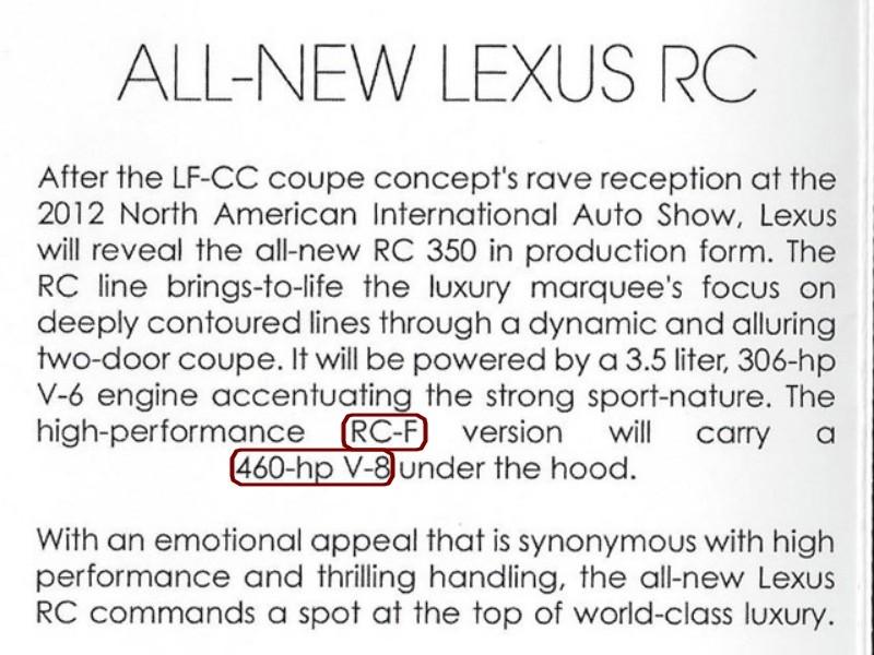 2014 - [Lexus] RC Coupé / RC-F - Page 4 Rc10