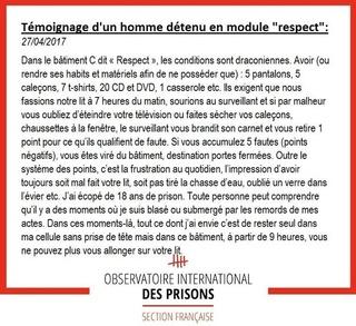 [Partenariat-OIP] Breves de prisons : la réalité. - Page 6 Respec12