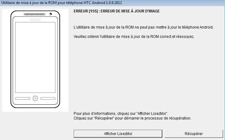 [Tuto]Passer un HTC One X, S ou V en ROM Officielle  - Page 5 Erreur10