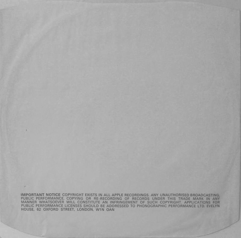 Le Inner Sleeve dei dischi Apple Apple-11