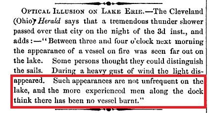 Rapport de garde-côtes américains sur les observations d'ovnis du lac Érié Scient10