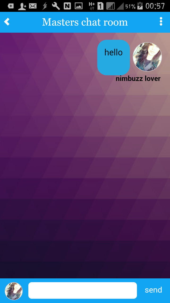 Masters: NimbuzzMasters android App with chat room Screen11