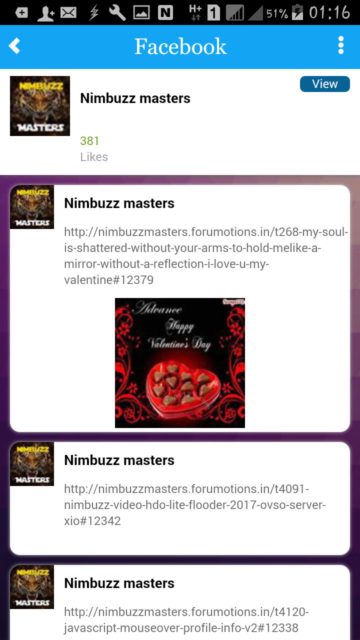 Masters: NimbuzzMasters android App with chat room Screen12