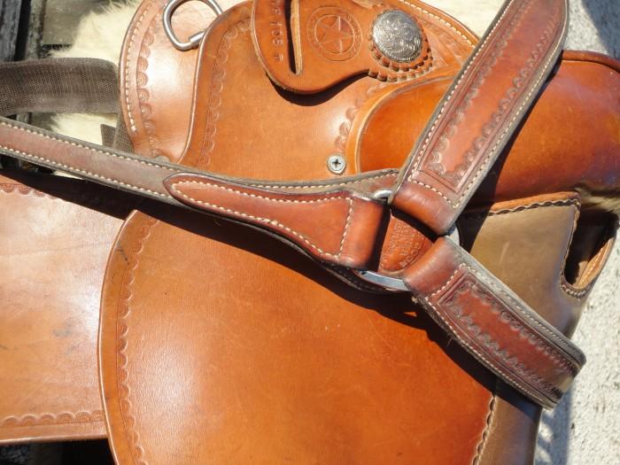 Vend belle selle Western 'Garland/White Star' Full Quarter Flor2-27