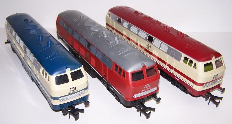 La locomotive diesel V160 Baureihe 216 et 218 de la DB de Lima au 1:45. Br216-10