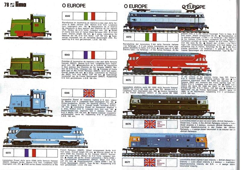 Extrait du catalogue général de 1976, train O scale, (de Lima Tribute) Lima_112