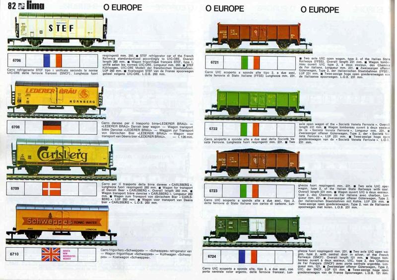 Extrait du catalogue général de 1976, train O scale, (de Lima Tribute) Lima_116