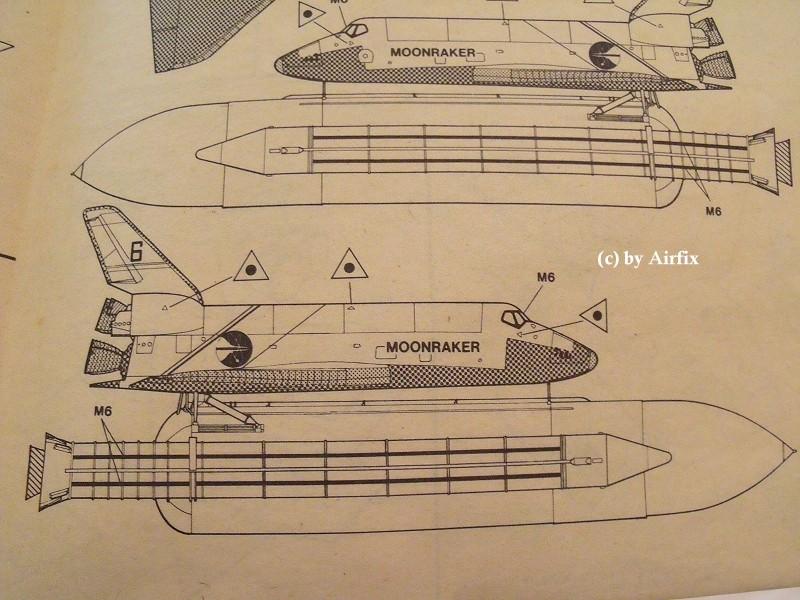 James Bond 007: Moonraker Spaceship 1:144 von Airfix (1979) Moonra21