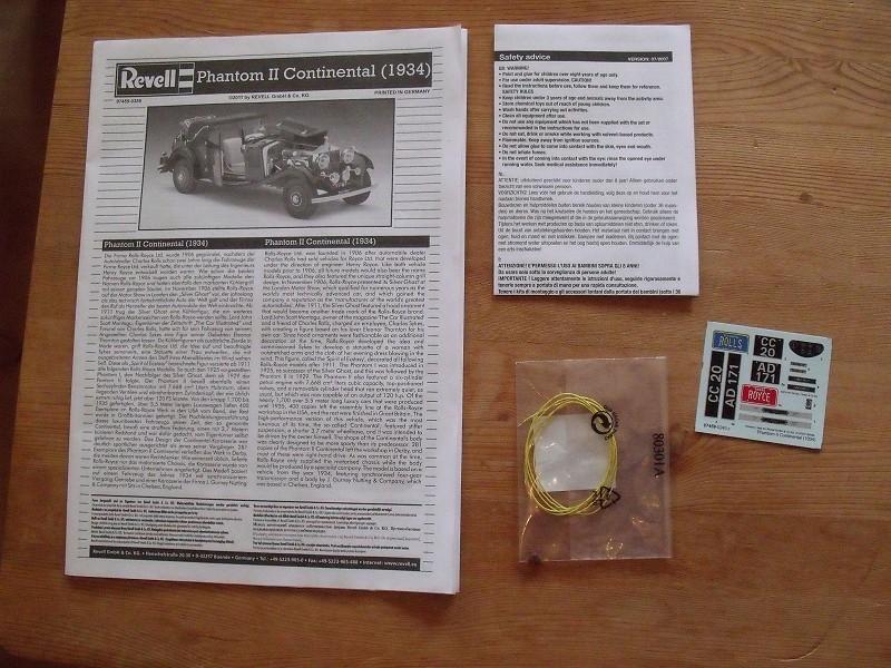 Revell 07459 Rolls Royce Phantom II Continental 1:16 Rr0210