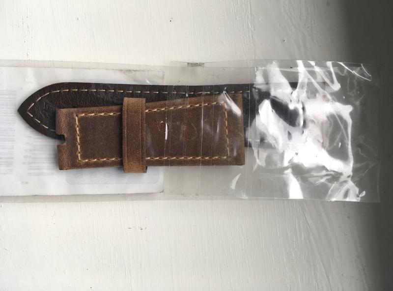 Strap OEM - Assulamente dark brown S - 27-22 Img_2616