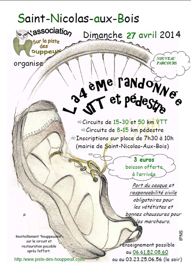 [02]Saint-Nicolas aux Bois: Rando des Houppeux 27 avril 2014 Affich10