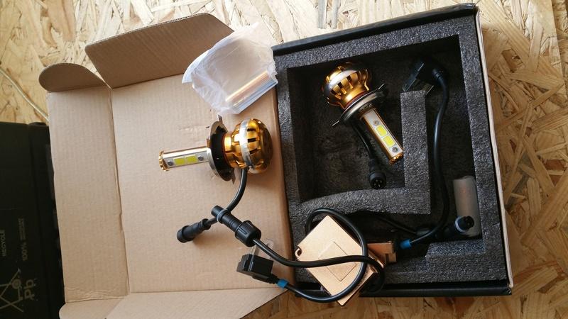 VDS: kit ampoules led H4 + rampe éclairage 20160511