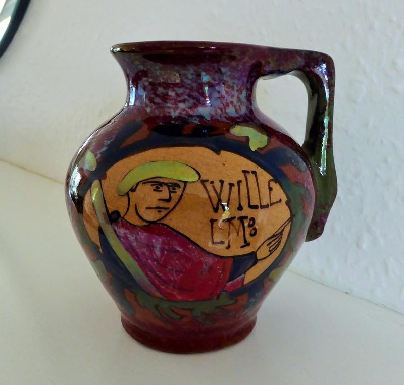 Earthenware jug; Willelm - Desmant P1080413