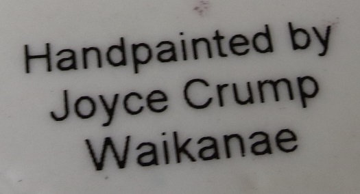 Joyce Crump China Painter on Crown Lynn jug  Crown_12